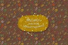 Autumn vector illustration & Pattern