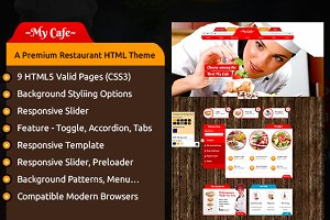 My Cafe Premium Restaurant HTML
