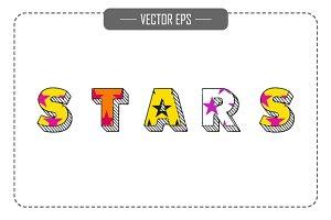 Vector Stars Block Font