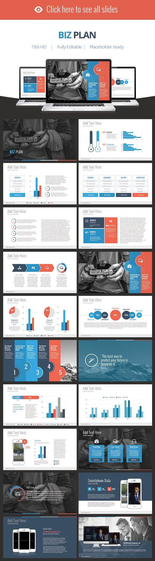Biz plan keynote template presentation templates for Keynote brochure template