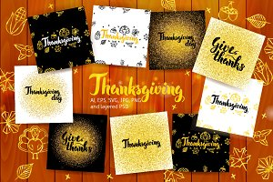 Thanksgiving Postcards Lettering