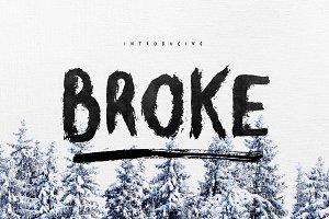 Broke Typeface