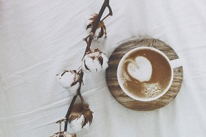 Coffee in bed. Bliss!