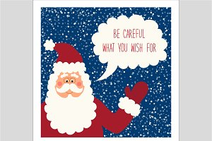 Cute Santa Claus card