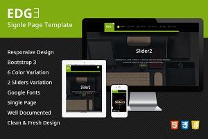 EDGE Single Page Reponsive Template