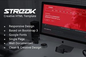 Streak Creative HTML Template