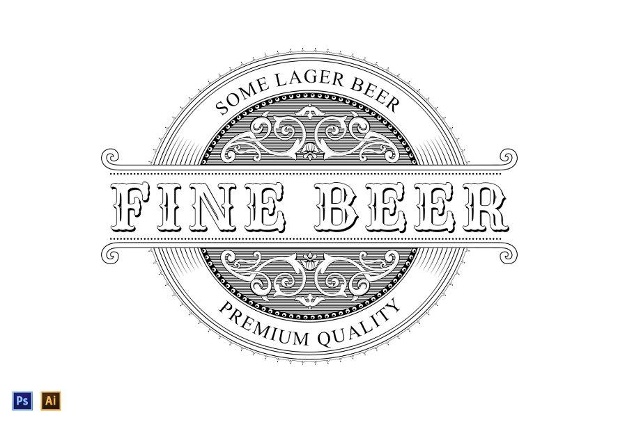 Vintage Logo - Beer Label - Logo Templates   Creative Market Pro