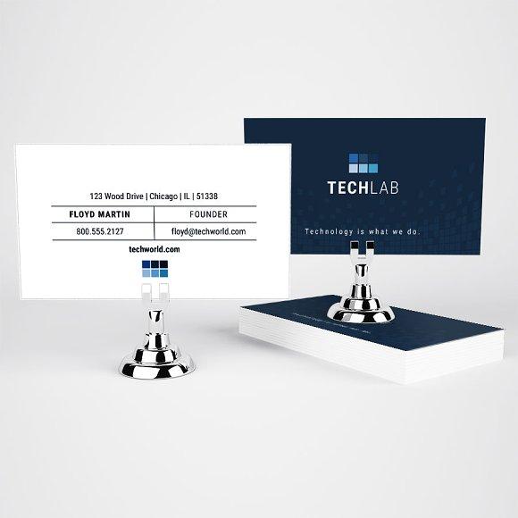 Technology U.S. sized Business Card