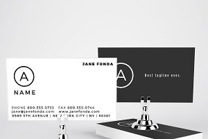 Modern U.S. sized Business Cards
