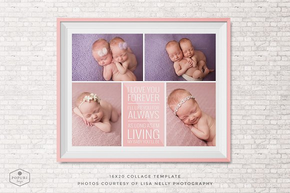 16x20 photo collage board template templates creative market 16x20 photo collage board template templates pronofoot35fo Choice Image