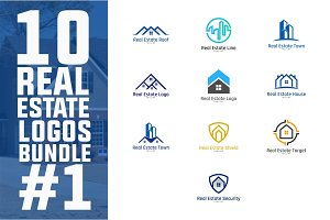 10 Real Estate Logo Bundle #1