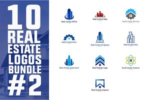 10 Real Estate Logo Bundle #2