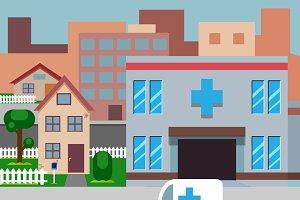 Cartoon Street Hospital