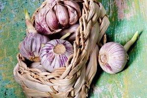 Fresh Pink Garlic