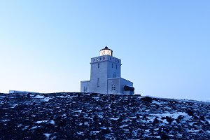 Romantic Lighthouse in Winter