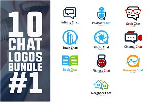 10 Chat Logo Bundle #1