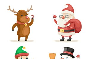 Cartoon Characters Christmas