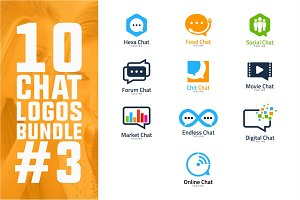 10 Chat Logo Bundle #3