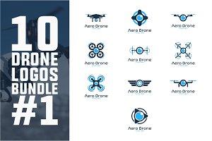 10 Drone Logo Bundle #1