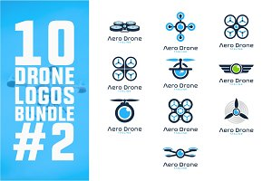 10 Drone Logo Bundle #2