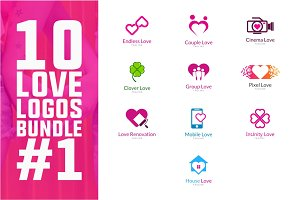 10 Love Logo Bundle #1
