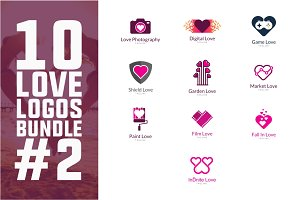 10 Love Logo Bundle #2
