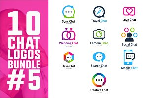 10 Chat Logo Bundle #5
