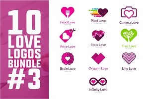 10 Love Logo Bundle #3
