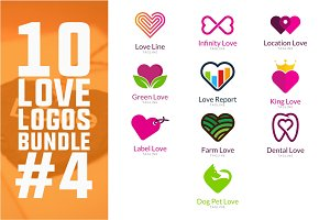 10 Love Logo Bundle #4