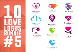10 Love Logo Bundle #5
