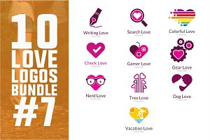 10 Love Logo Bundle #7