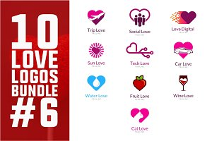 10 Love Logo Bundle #6