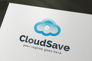 Cloud Save Logo Template