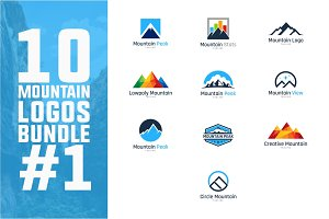 10 Mountain Logo Bundle #1