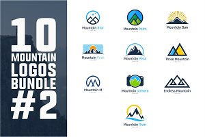 10 Mountain Logo Bundle #2