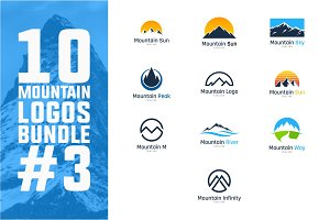 10 Mountain Logo Bundle #3
