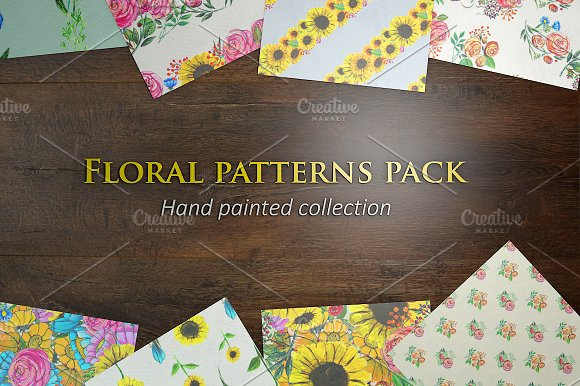 24 hand painted seamless patterns 3