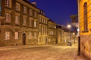 Mostowa Street in Warsaw by Night