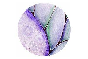 Violet amethyst druse pattern vector