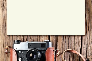Old rangefinder vintage camera.