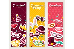 Carnival Vertical Banners