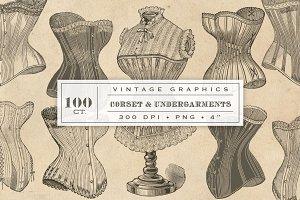 100 Vintage Corset Graphics