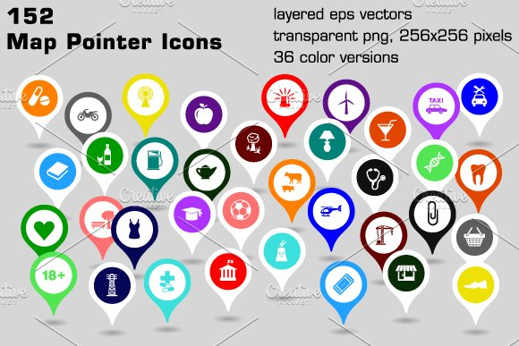 Free Google Maps Pointer Icon: 152 Map Pointer Icons