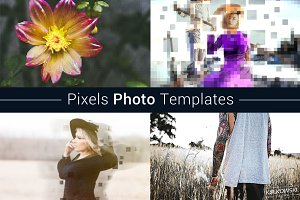 Pixels Photo Template
