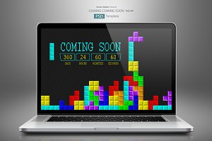 Gaming Coming Soon - PSD Template 04