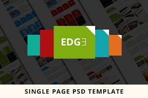Single page EDGE PSD Template