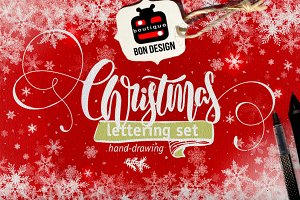 **60% OFF** SET of xmas Lettering