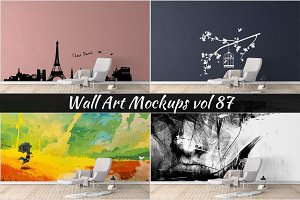 Wall Mockup - Sticker Mockup Vol 87