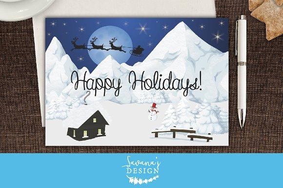 Winter wonderland christmas card card templates creative market winter wonderland christmas card m4hsunfo