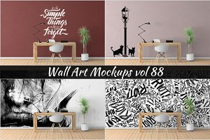 Wall Mockup - Sticker Mockup Vol 88
